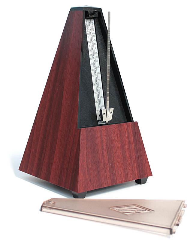 Wittner Metronome Pyramid shape Mahogany grain 812K