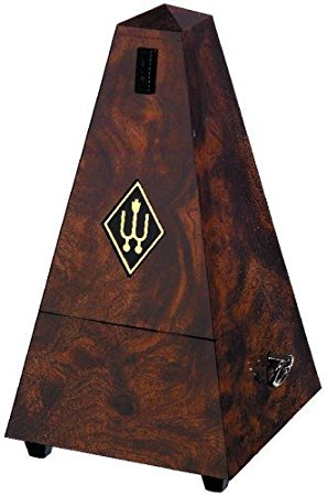 Wittner Metronome Pyramid shape Root wood 845001