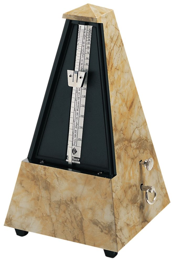 Wittner Metronome Pyramid shape Light brown 845104