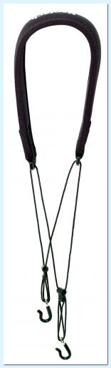 Neotech Clarinet strap Classic 2-Hook Black, Length 41,9 - 55,8 cm