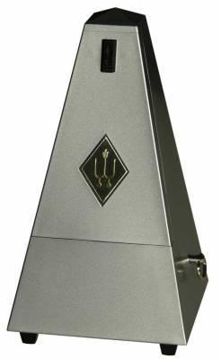 Wittner Metronome Pyramid shape Siver matt dark 845203