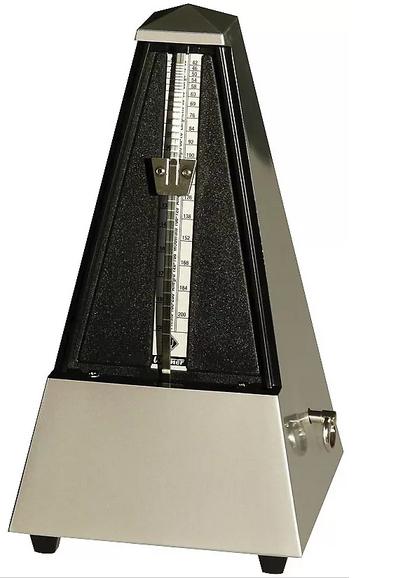 Wittner Metronome Pyramid shape Siver matt bright 845202