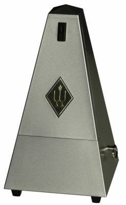 Wittner Metronome Pyramid shape Siver matt dark 855203