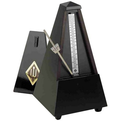 Wittner Metronome Pyramid shape Black high gloss 806