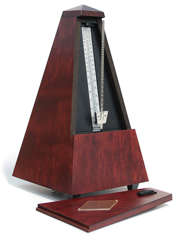 Wittner Metronome Pyramid shape Mahogany colour matt 811M
