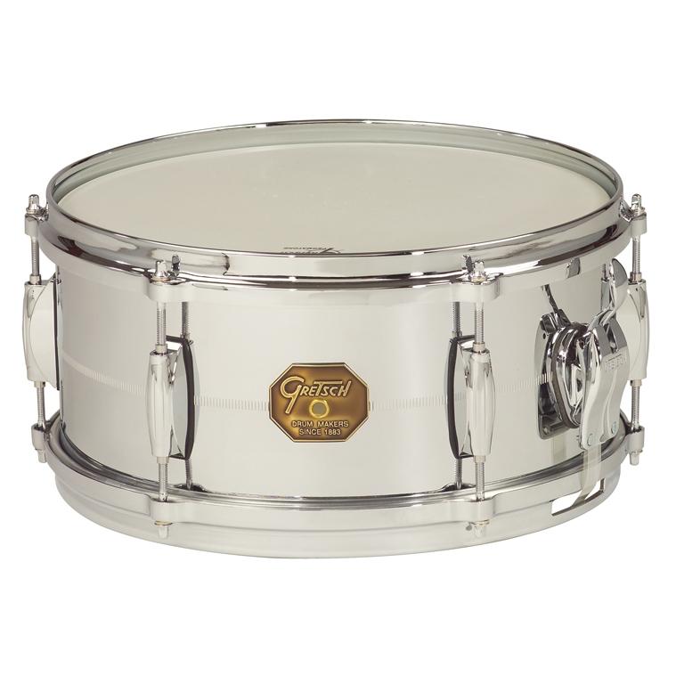 """Gretsch drums Gretsch Snare G4000 Series 6x13"""" Chrome Over Brass Shell"""
