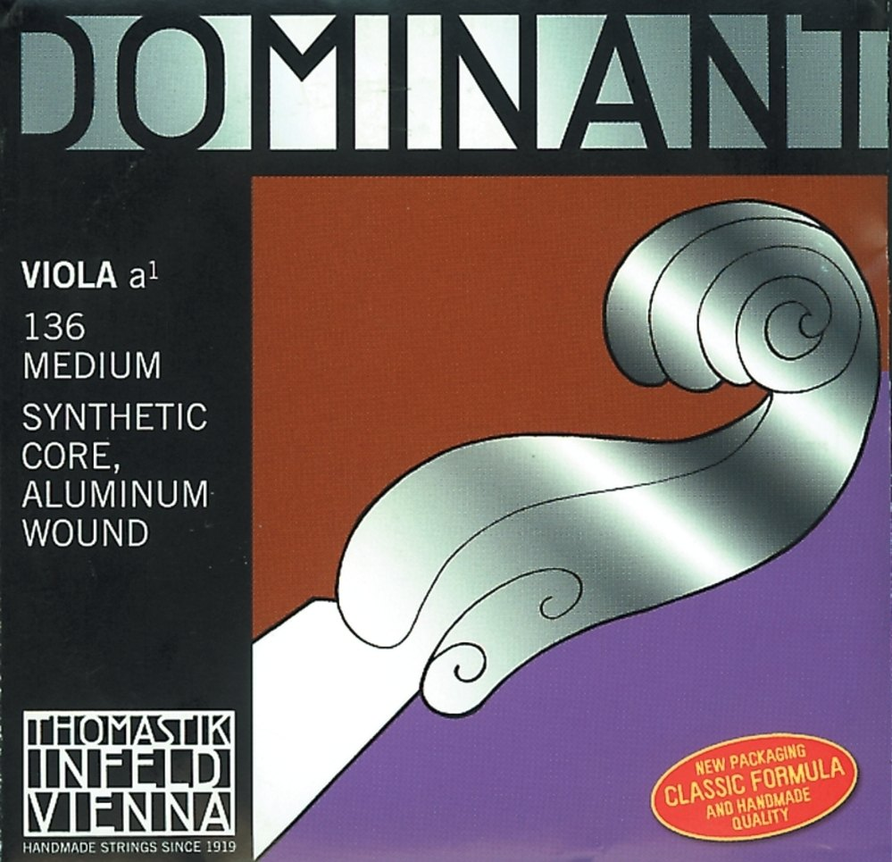 Thomastik Strings For Viola Dominant nylon core Medium