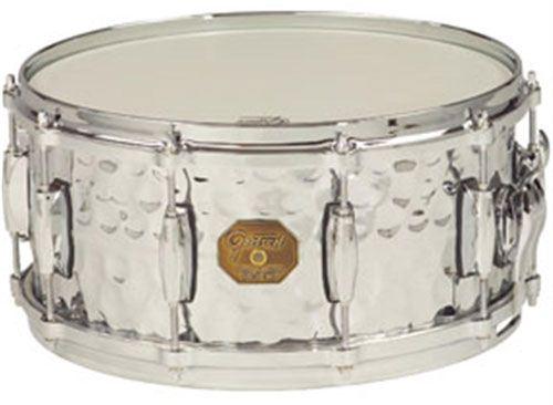 "Gretsch drums Gretsch Snare G4000 Series 6x13"" Hammered Chrome Over Brass Shell"