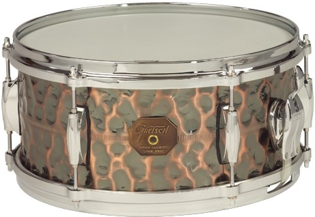 "Gretsch drums Gretsch Snare G4000 Series 6x13"" Hammered Antique Copper Shell"