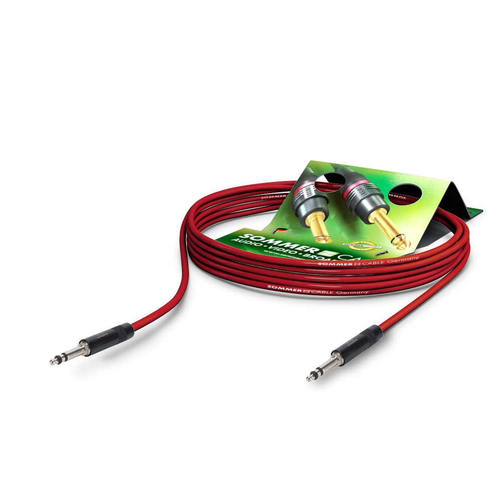 Sommer Cable PC Goblin 2x0,14qmm, Red, 1,50m