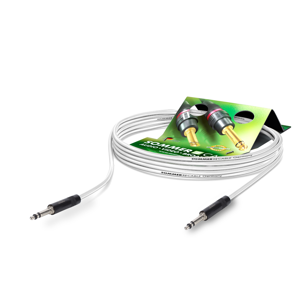 Sommer Cable PC Goblin 2x0,14qmm, White, 1,50m