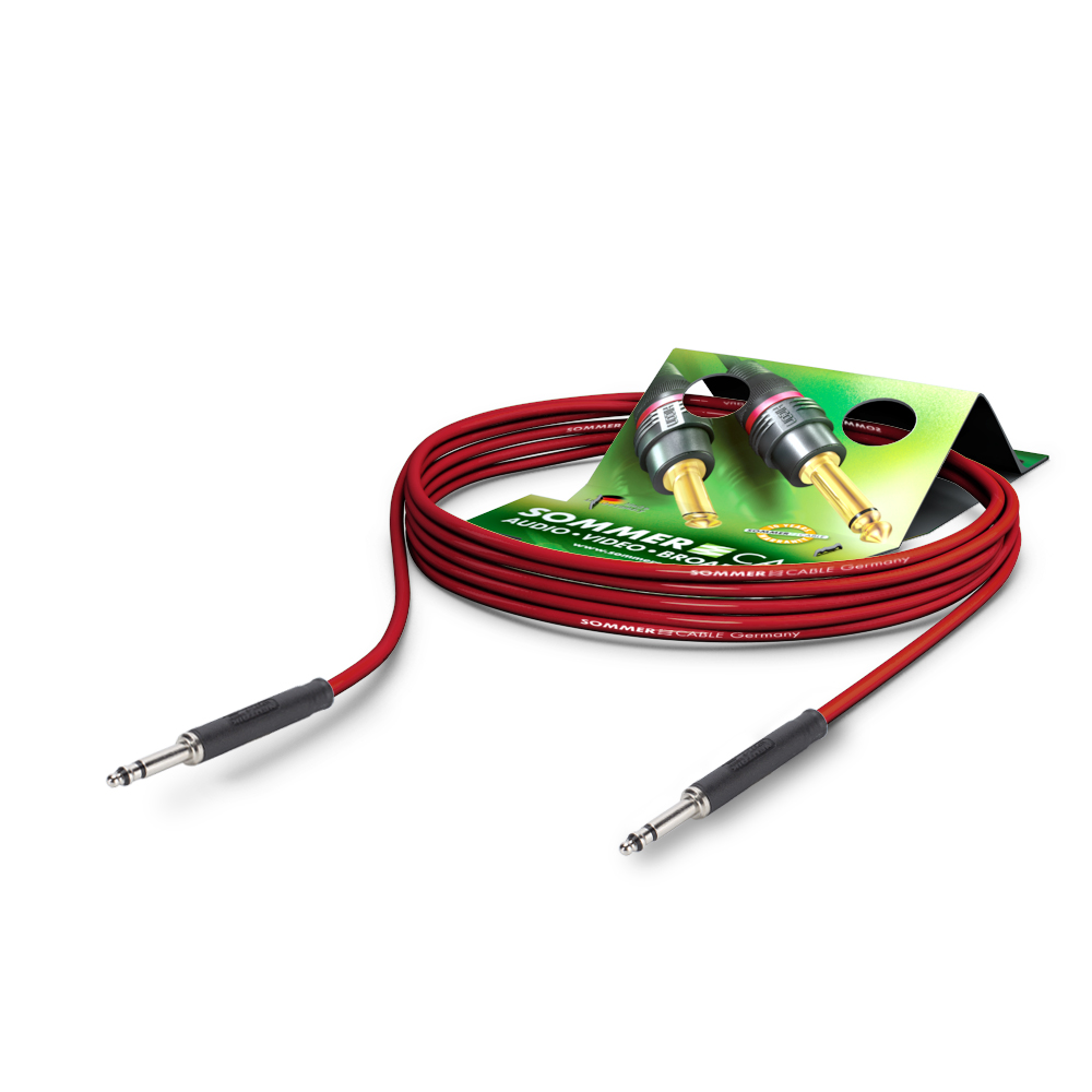 Sommer Cable PC Goblin 2x0,14qmm, Red, 0,25m