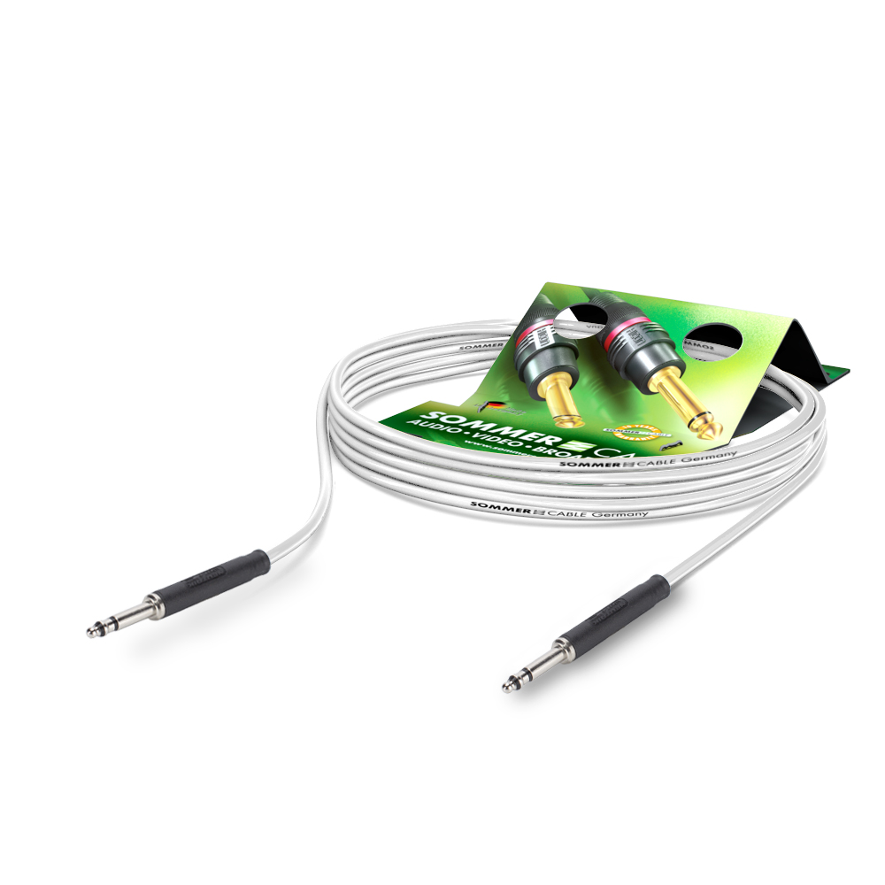 Sommer Cable PC Goblin 2x0,14qmm, White, 2,50m