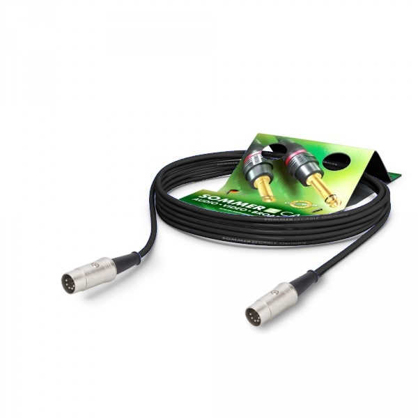 Sommer Cable PC Goblin 2x0,14qmm, Black, 0,60m