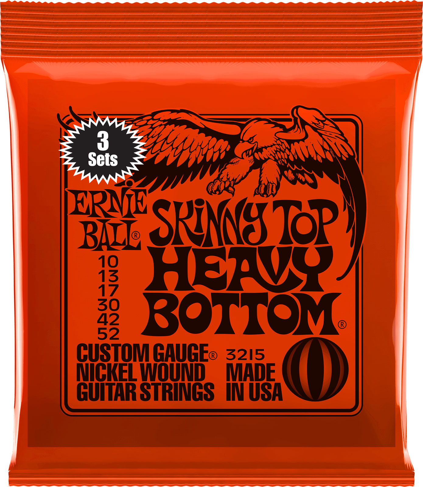 Ernie Ball Slinky Nickel 3-Pack Skinny Top.010-.052