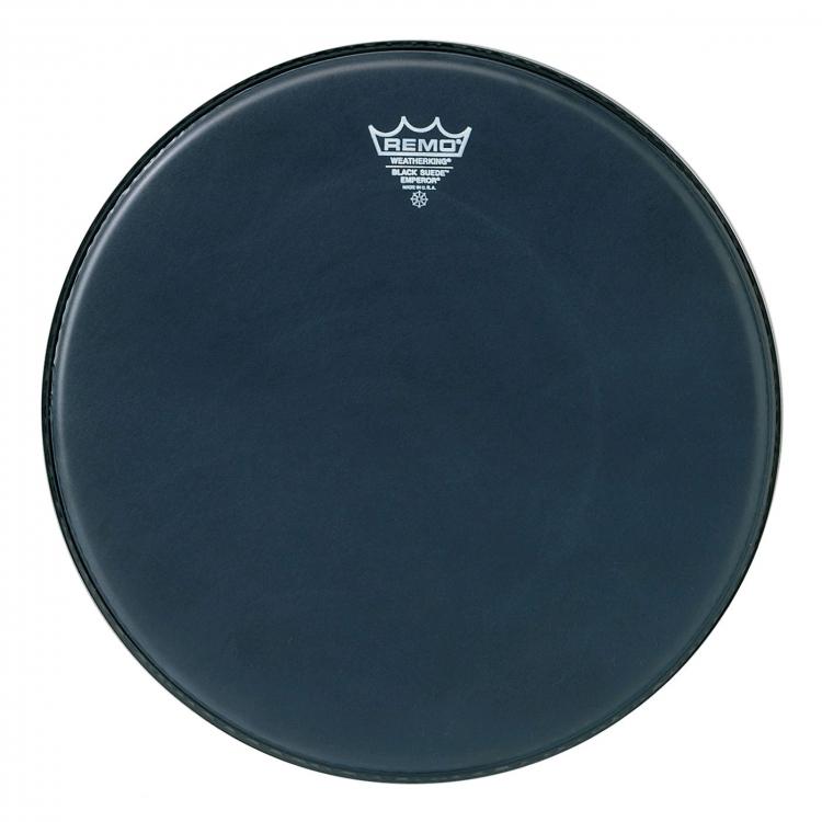 """Remo 24"""" BB-1824-ES blana pre bicie Emperor Black Suede basové bubny"""