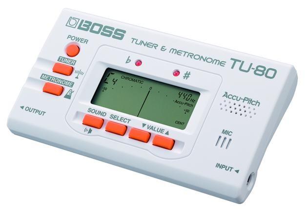 BOSS TU 80 WH Tuner/Metronom (White)
