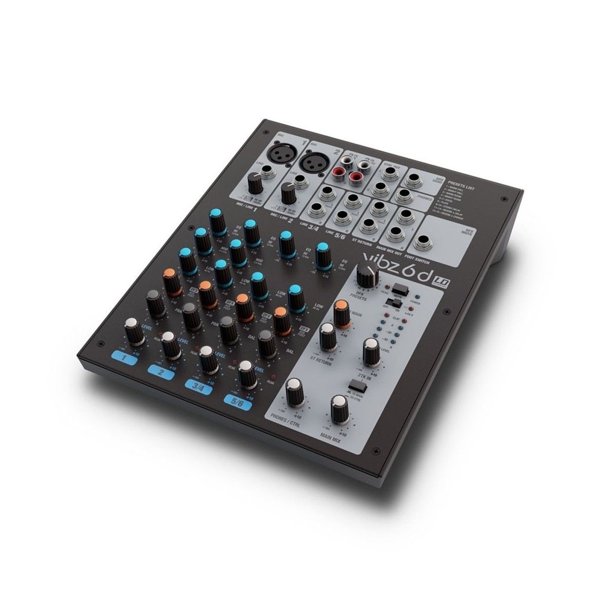 LD Systems VIBZ 6 - 6 channel Mixing Console with DFX