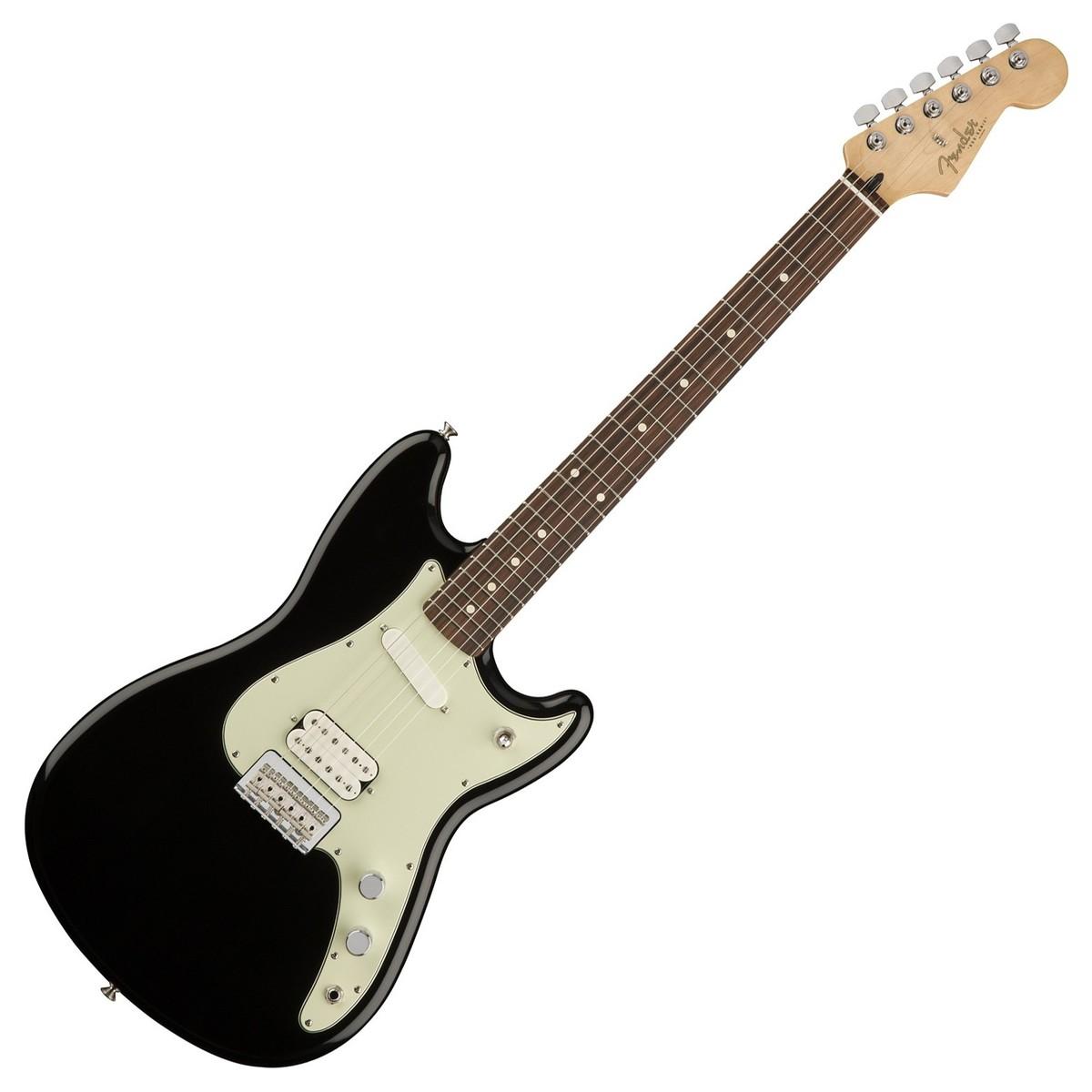 Fender Duo-Sonic HS, Pau Ferro Fingerboard, Black