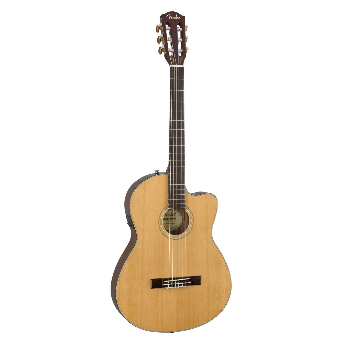 Fender CN-140SCE, Natural with Case