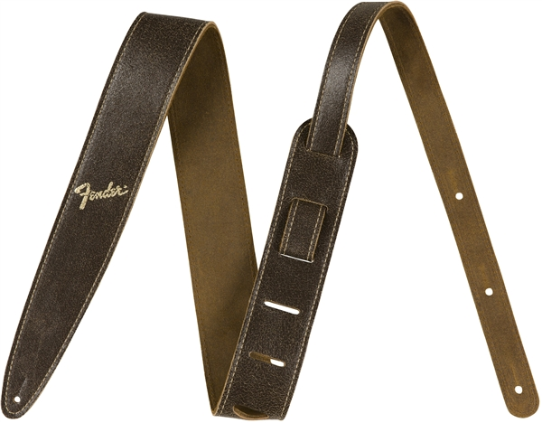 "Fender 2"" Distressed Leather Strap, Brown"