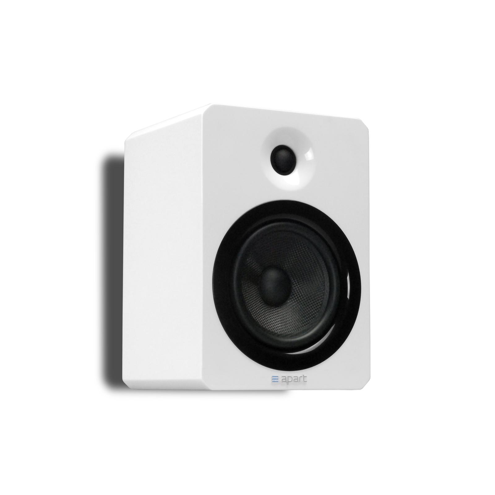 "Apart 5"" two-way 6 ohms hi-fi loudspeaker, 160 watts, Piano white. Price per pie"
