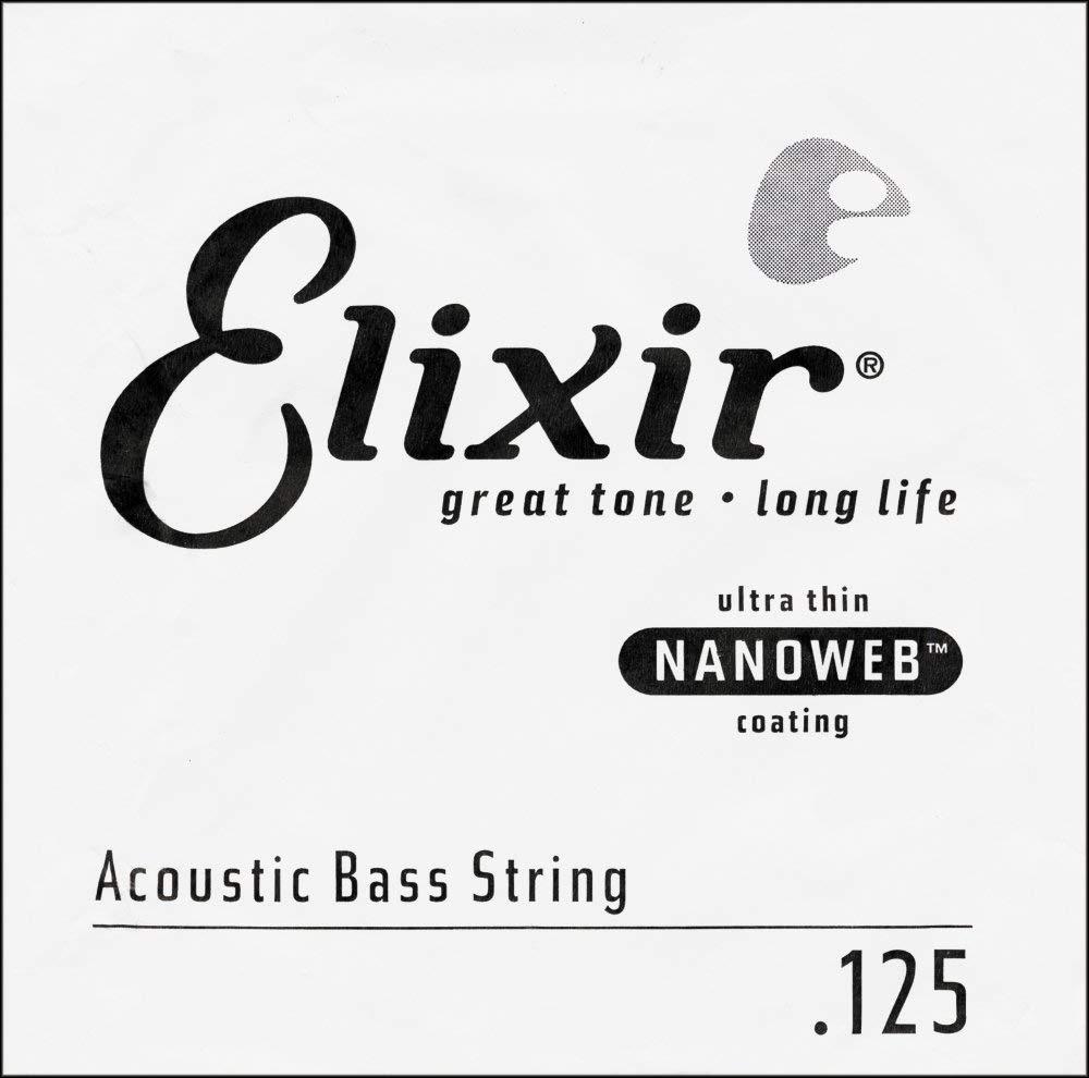Elixir 15825 Acoustic Bass Bronze Single Strings Coating - .125