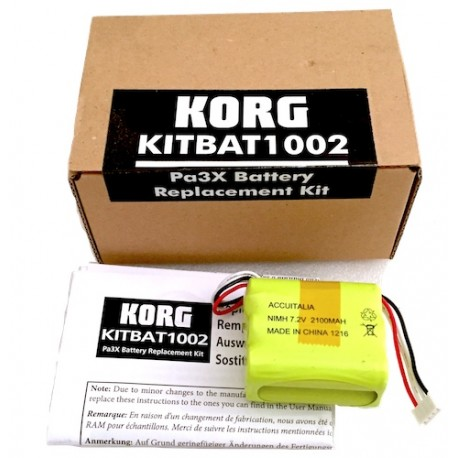 Korg KITBAT1002 Pa3X Battery replacement kit