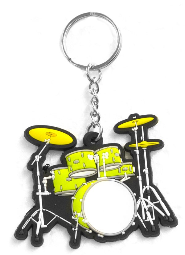 Musician Designer Music Key Chain Drumset Green