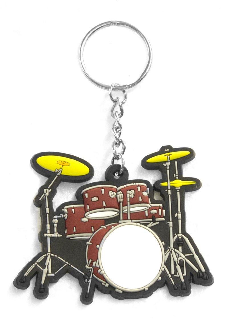 Musician Designer Music Key Chain Drumset Red