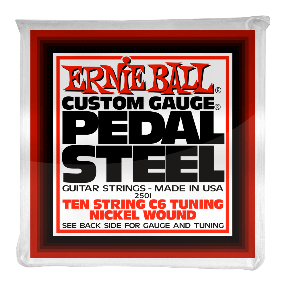 Ernie Ball Pedal Steel 10 - String C6 Tuning Nickel Wound Electric Guitar Strings