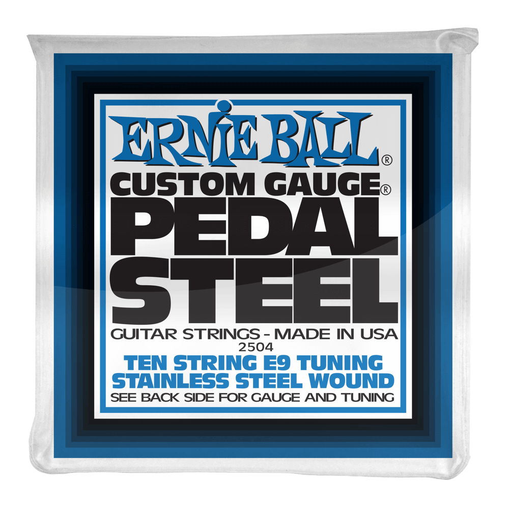 Ernie Ball Pedal Steel 10 - String E9 Tuning Stainless Steel Wound Electric Guitar Strings