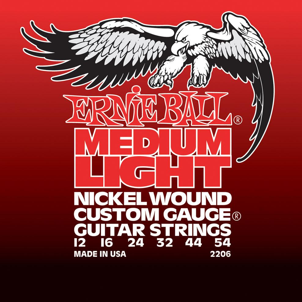 Ernie Ball Medium Light Nickel Wound w/ wound G Electric Guitar Strings