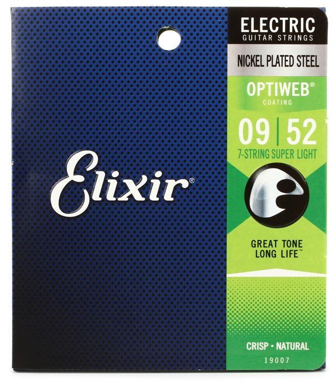 Elixir 7-String Super Light Optiweb