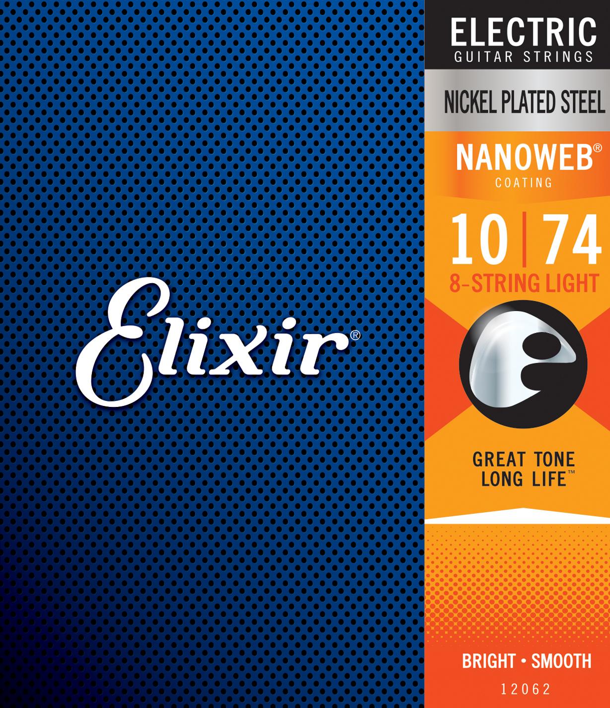 Elixir 8-String Light Nanoweb