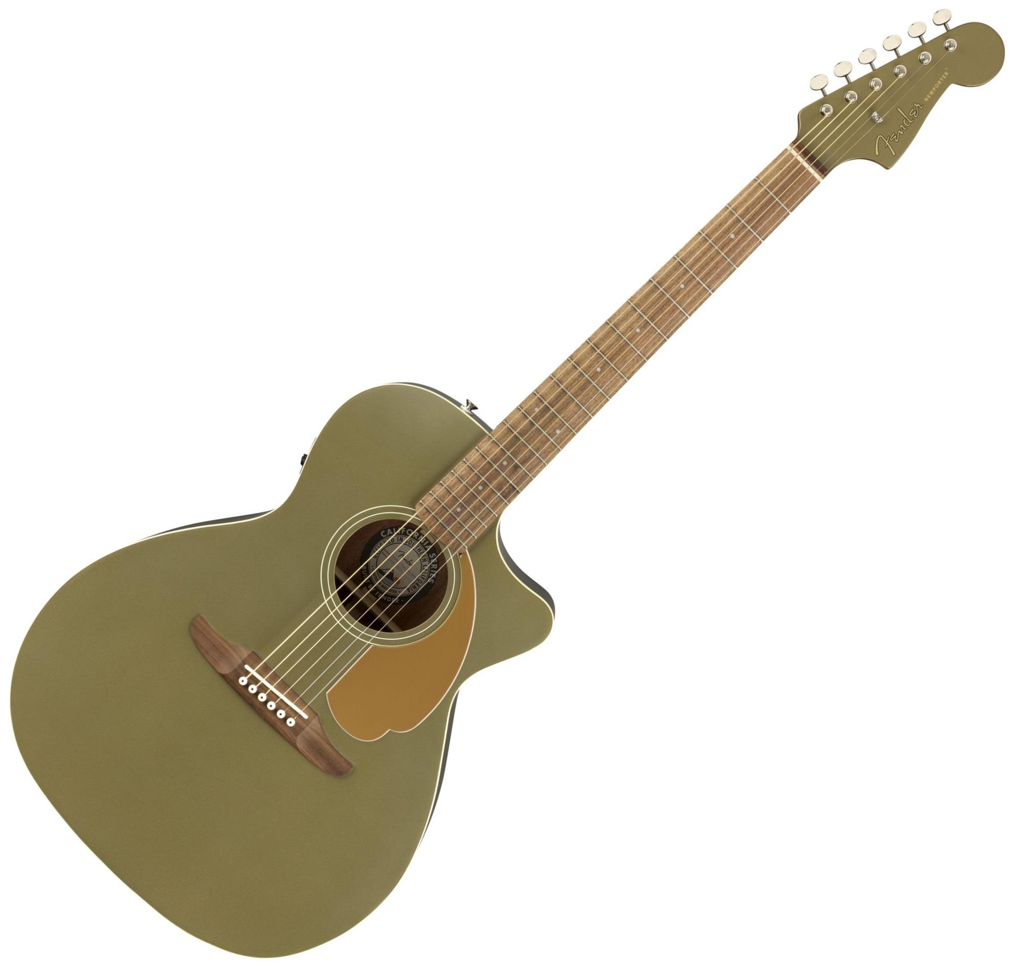 Fender Newporter Player, Candy Olive Satin