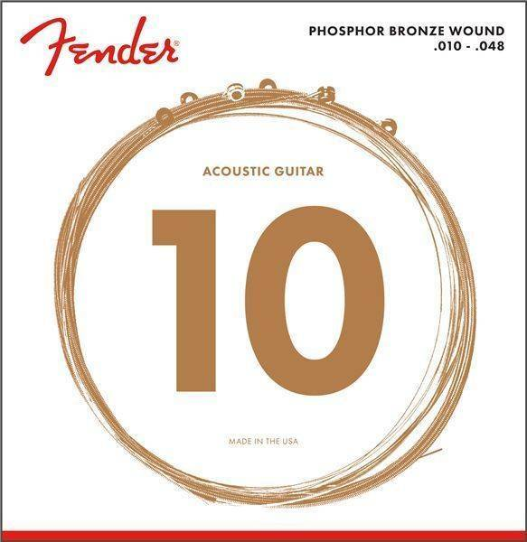 Fender Phosphor Bronze Acoustic 10 - 48 Guitar Strings, Ball End