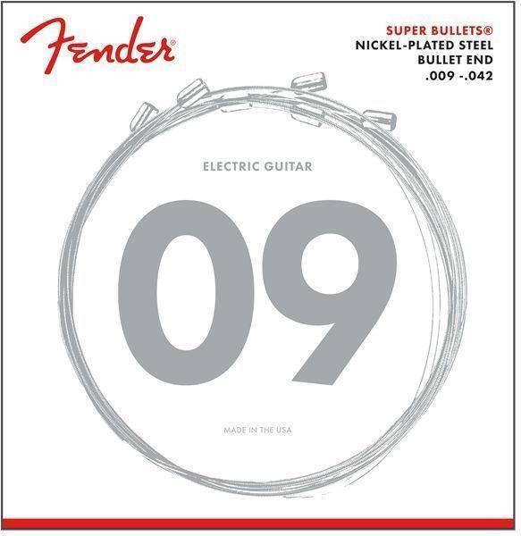 Fender Super Bullet Strings .009, Nickel Plated Steel, Bullet End, 3250L