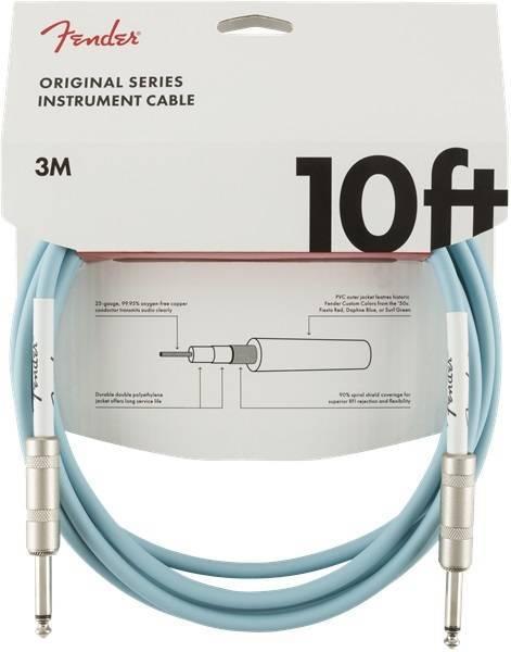"Fender Original 10"" Instrument Cable Daphne blue"