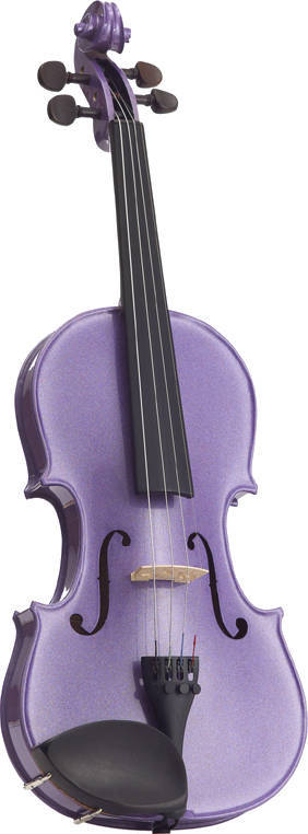 STENTOR Violin 4/4, Harlequin, Set, lightpurple