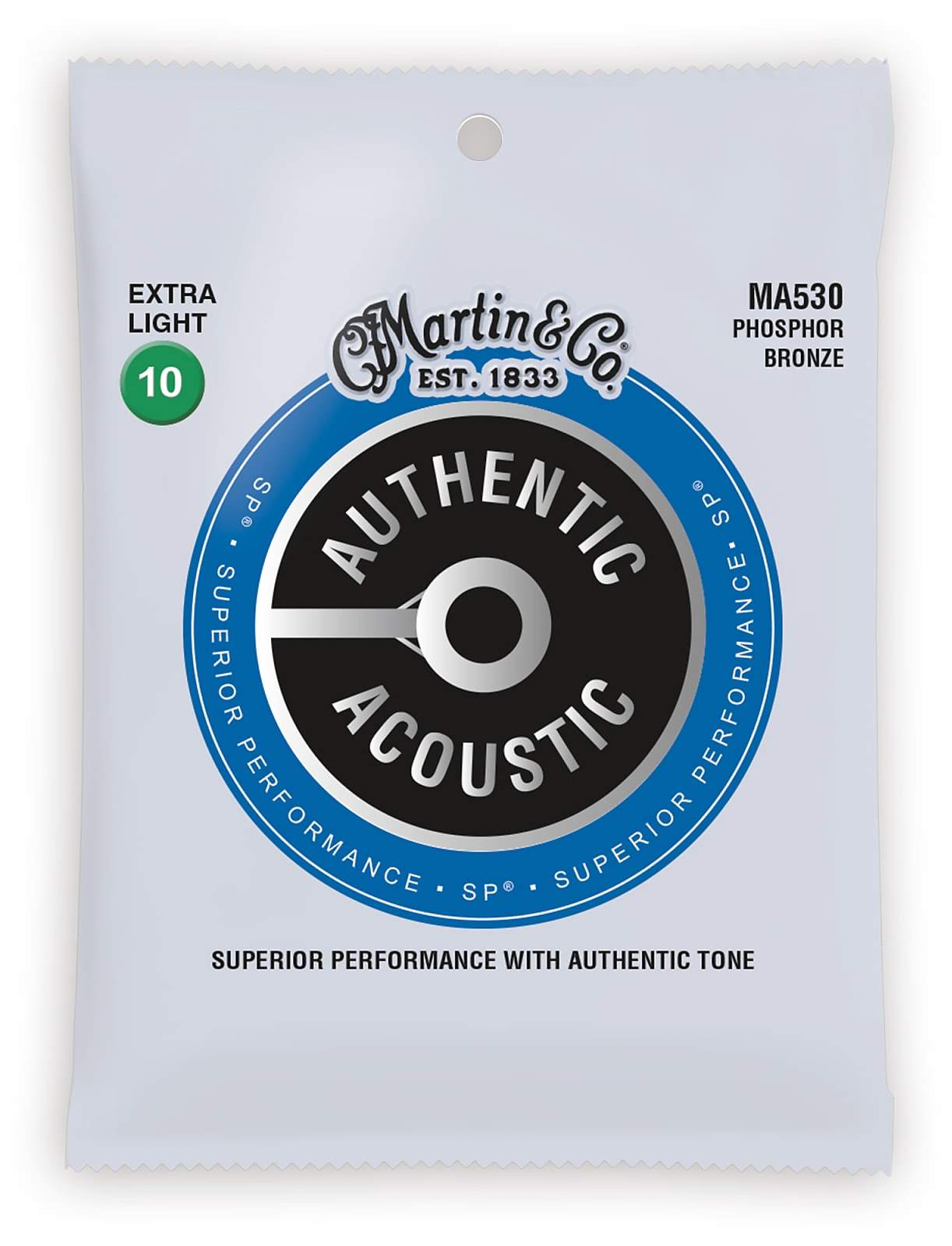 Martin Guitars MARTIN Authentic SP 92/8 Phosphor Bronze Extra Light