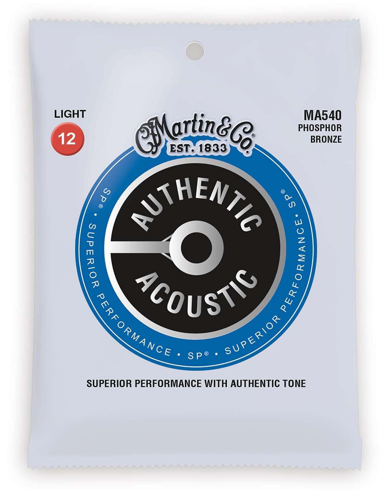 Martin Guitars MARTIN Authentic SP 92/8 Phosphor Bronze Light 12