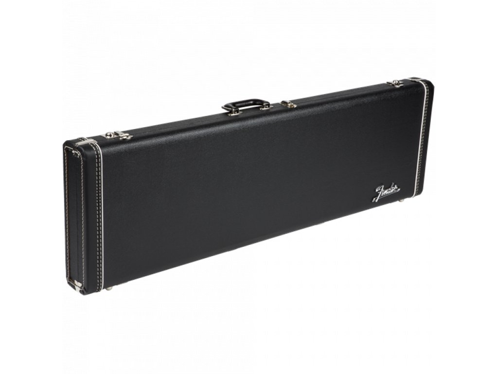 Fender G&G Deluxe Strat/Tele Hardshell Case, Left Handed, Black with Orange Plush Interior
