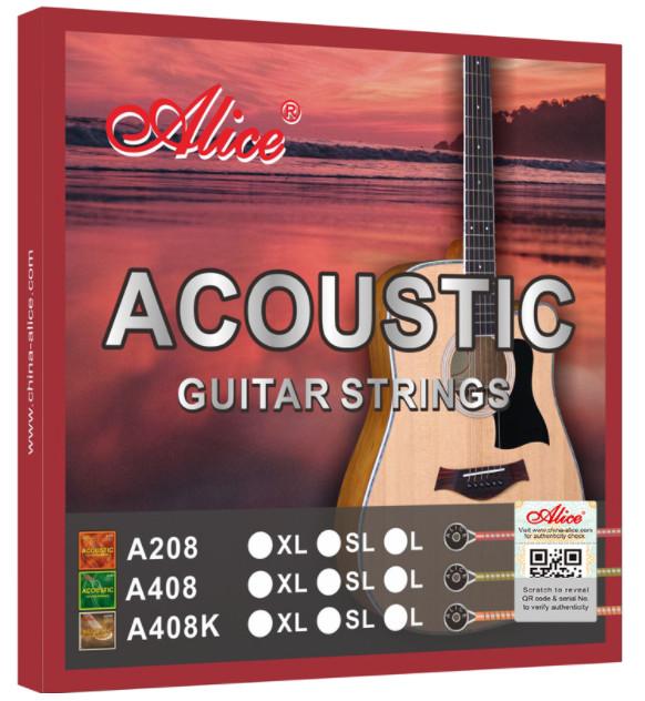 Alice A408K-SL Acoustic Guitar Strings, Super Light