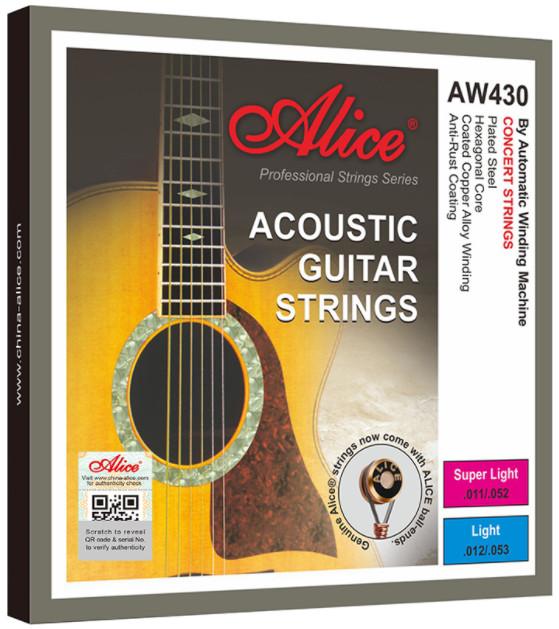 Alice AW430P-L Acoustic Guitar Strings, Light