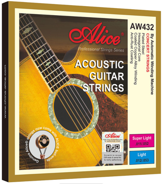 Alice AW432P-L Acoustic Guitar Strings, Light