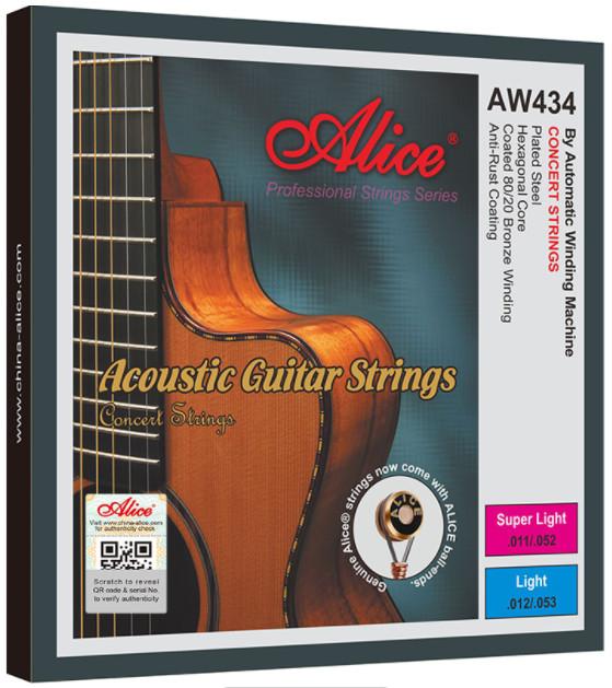 Alice AW434P-SL Acoustic Guitar Strings, Super-light