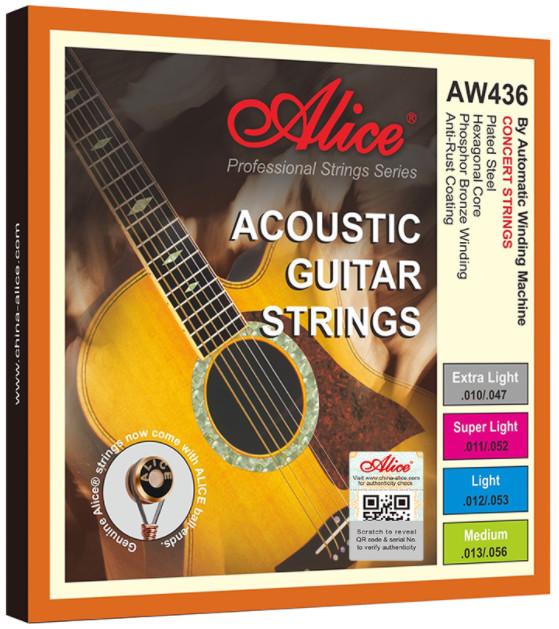 Alice AW436P-SL Acoustic Guitar Strings, Super Light