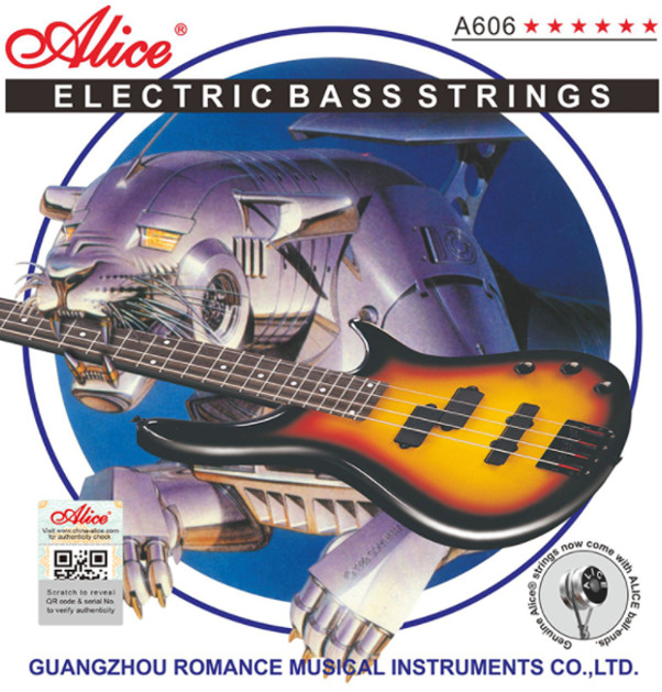 Alice A606(4)-M Electric Bass Strings (4-string) , Medium
