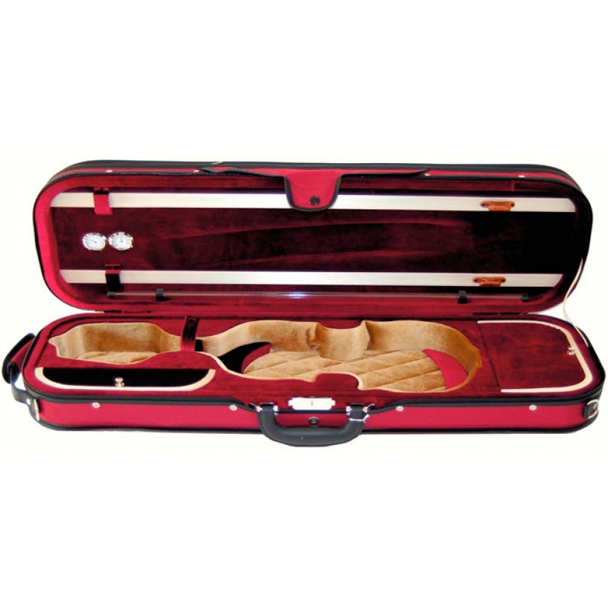 Petz violin case, red colour red/beige